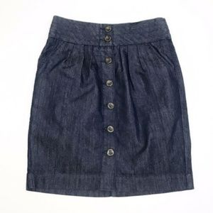 Pilcro Anthropologie A Quiet Approach Denim Skirt